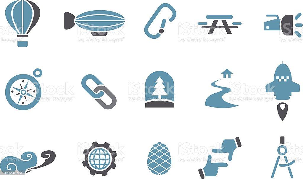 Exploration Icon Set royalty-free stock vector art