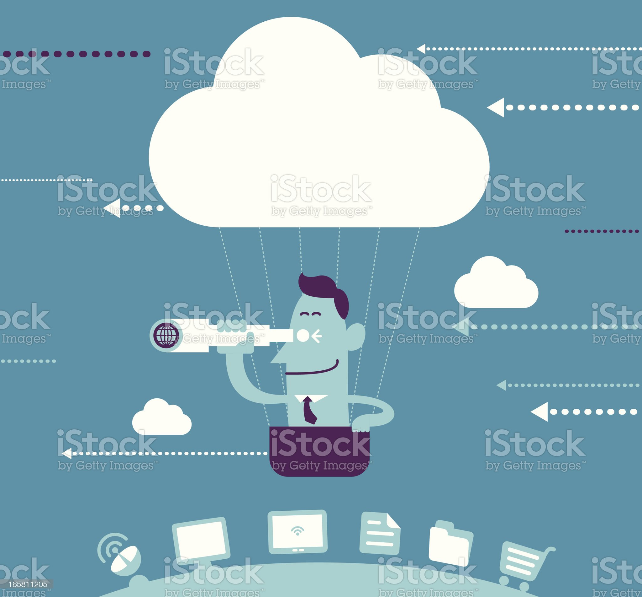 Explore From Cloud Balloon royalty-free stock vector art