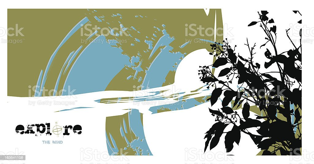 Explore the mind royalty-free stock vector art