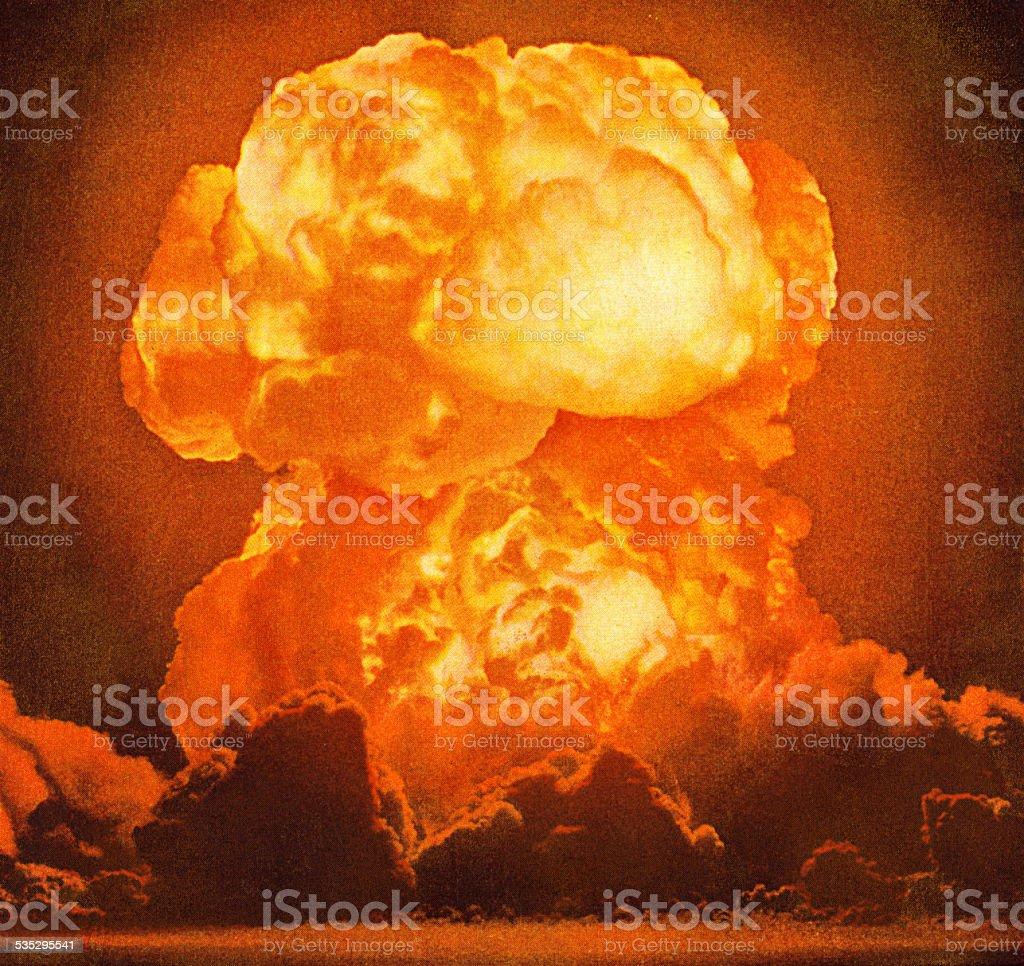 Explosion vector art illustration