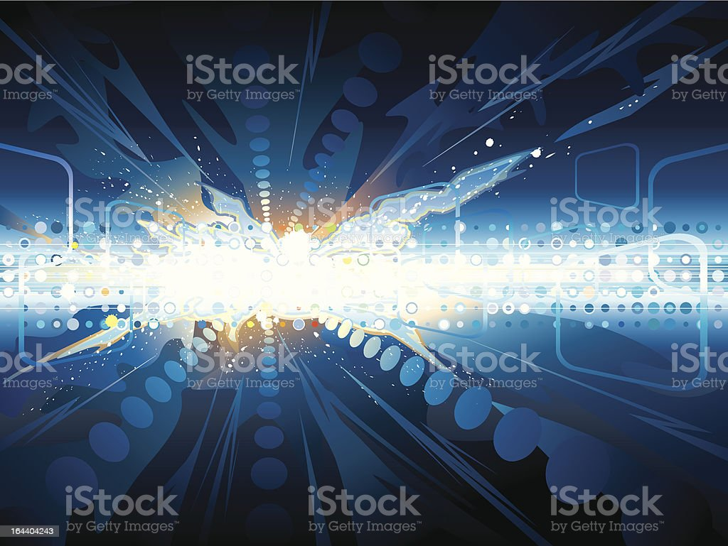 Explosion technology royalty-free stock vector art