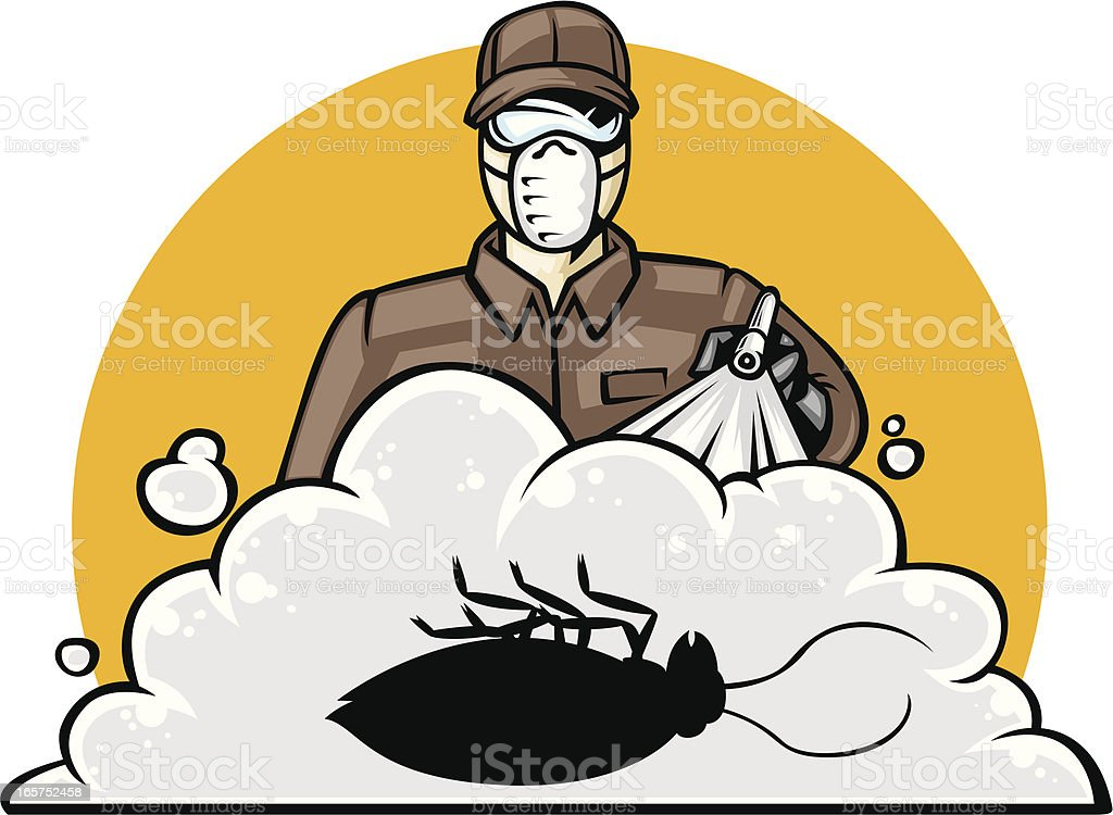 exterminator royalty-free stock vector art