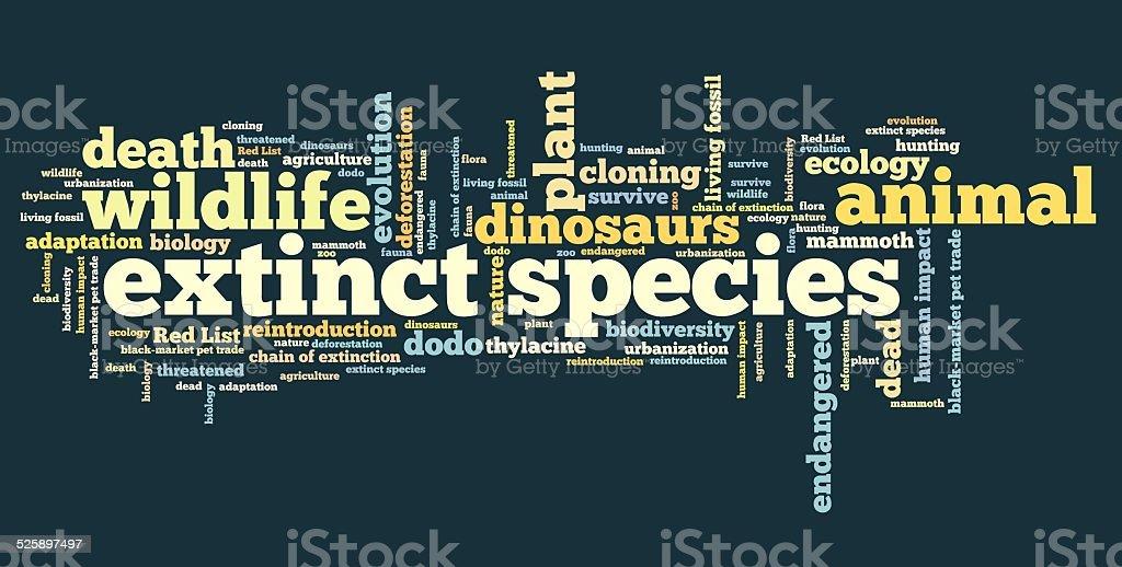 Extinct species vector art illustration