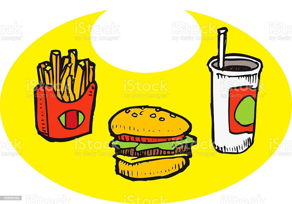 Extra Valuable Meal (illustration) royalty-free stock vector art