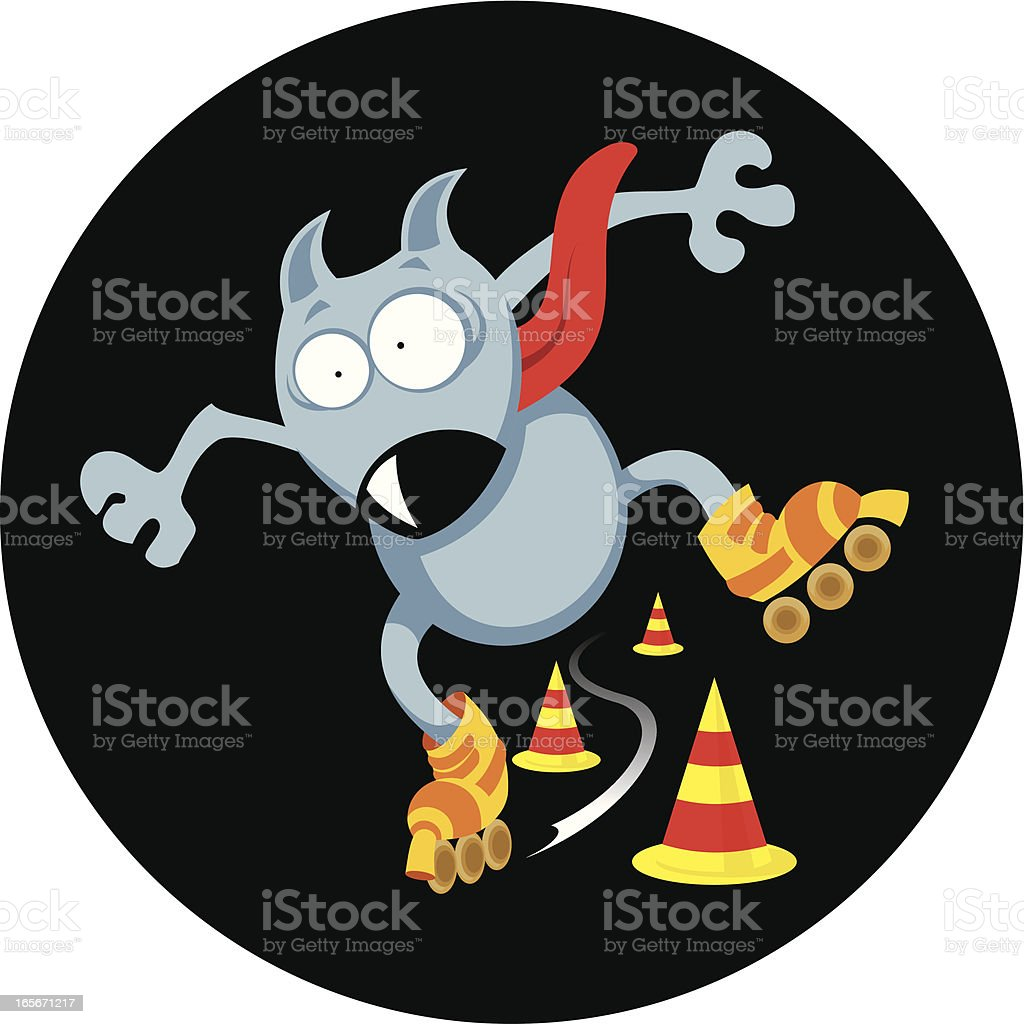 Extreme roller dog royalty-free stock vector art
