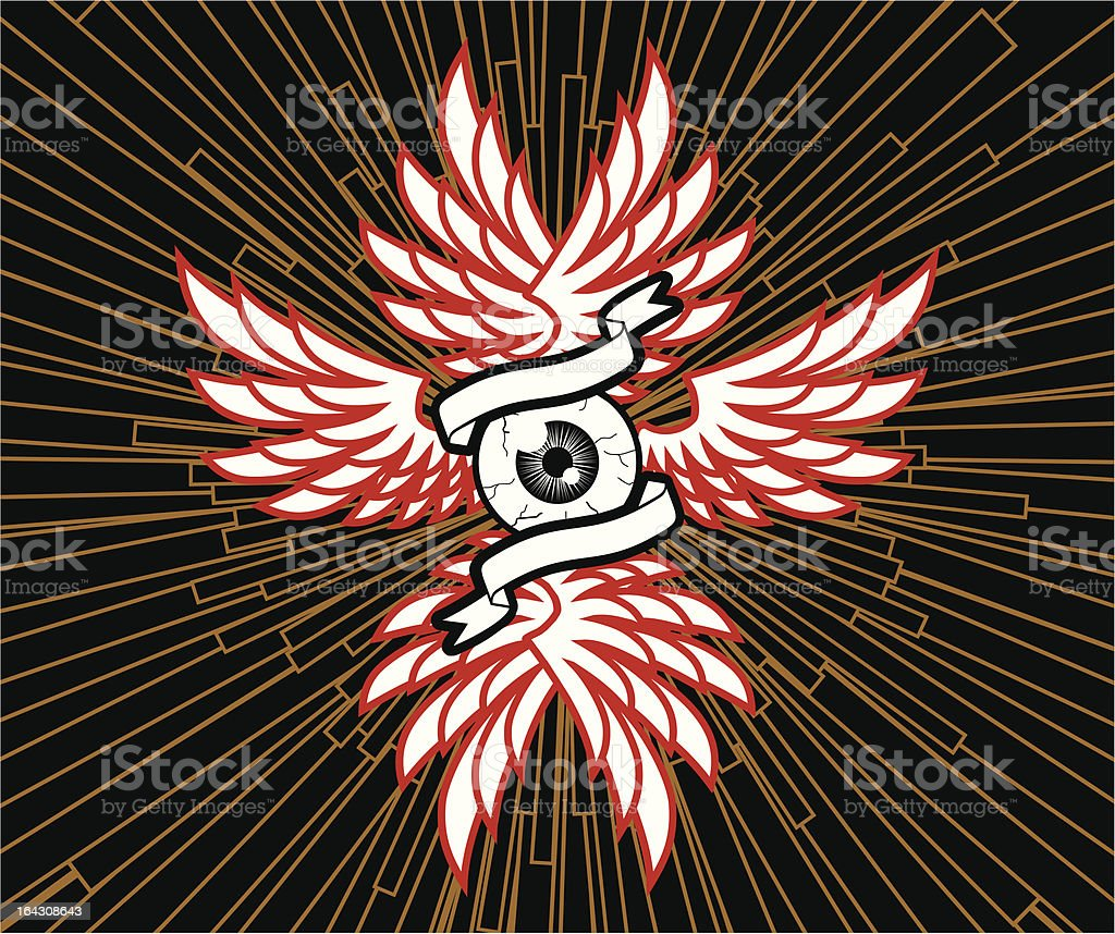 Eye And  Wings royalty-free stock vector art