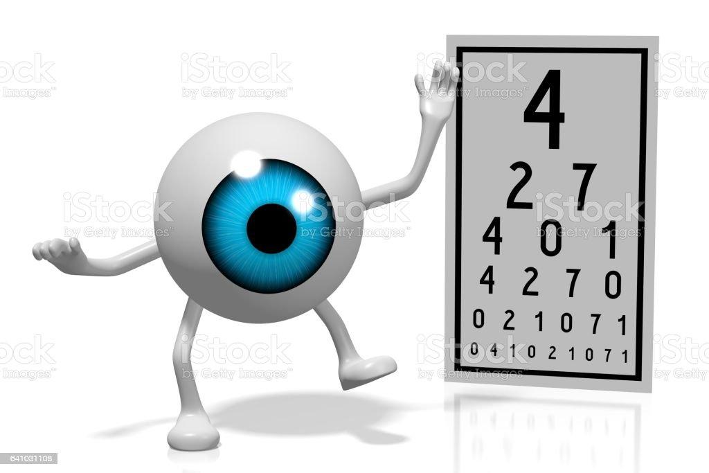 3D eye problems concept vector art illustration