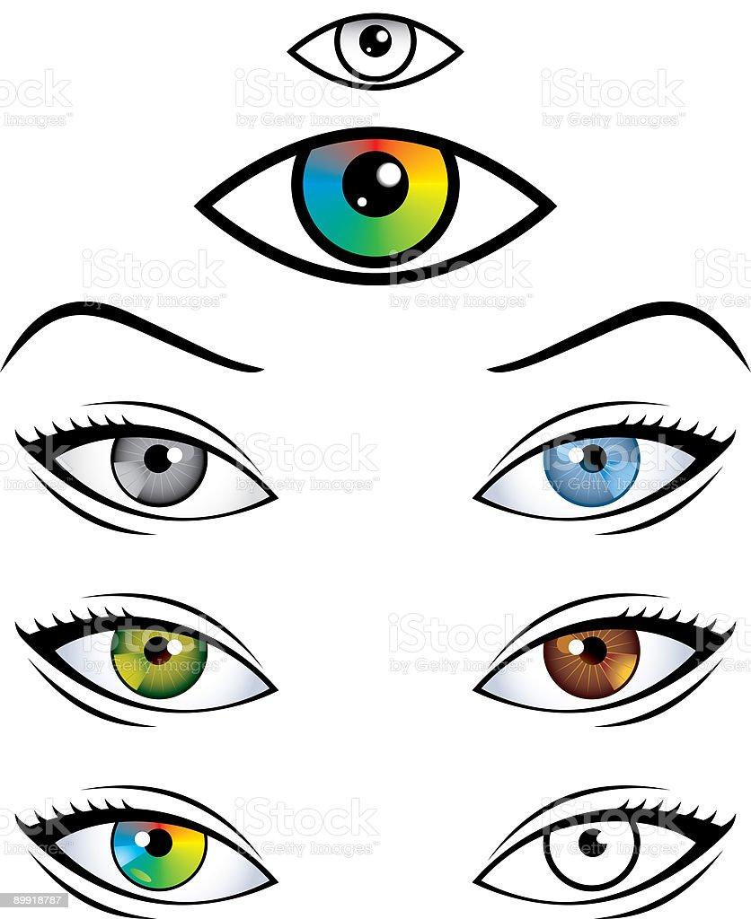 Eyes royalty-free stock vector art