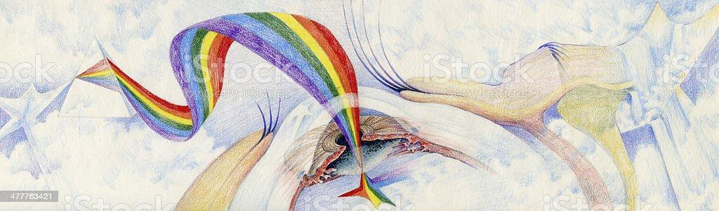 Eyesight vector art illustration