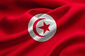 Fabric flag of Tunisia