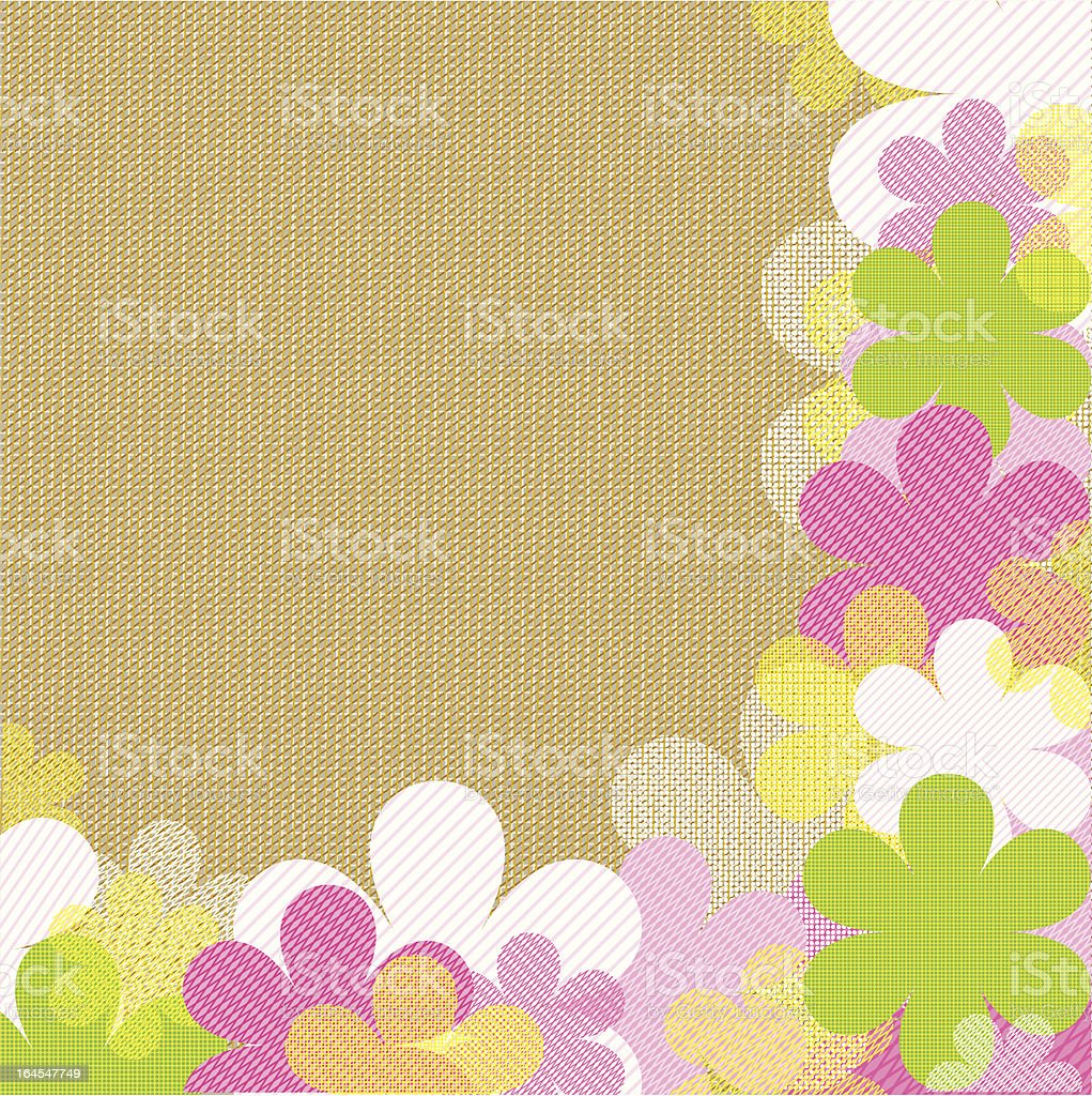 Fabric flower blossom background royalty-free stock vector art