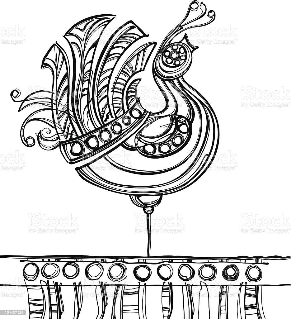 Fabulous bird. royalty-free stock vector art