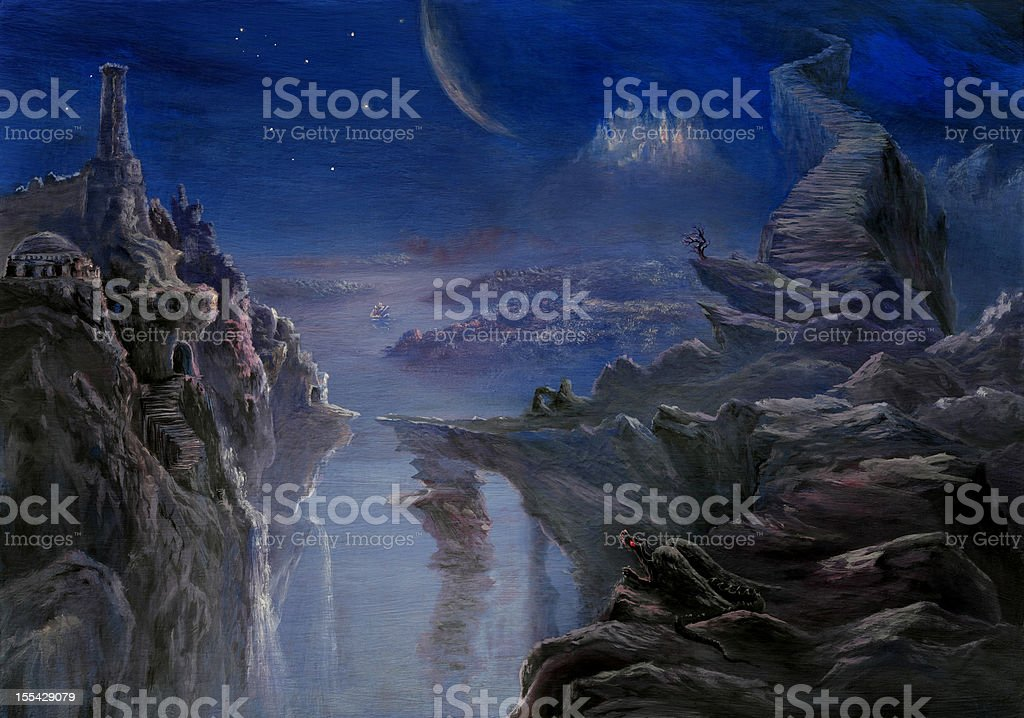 Fabulous Nocturne royalty-free stock vector art