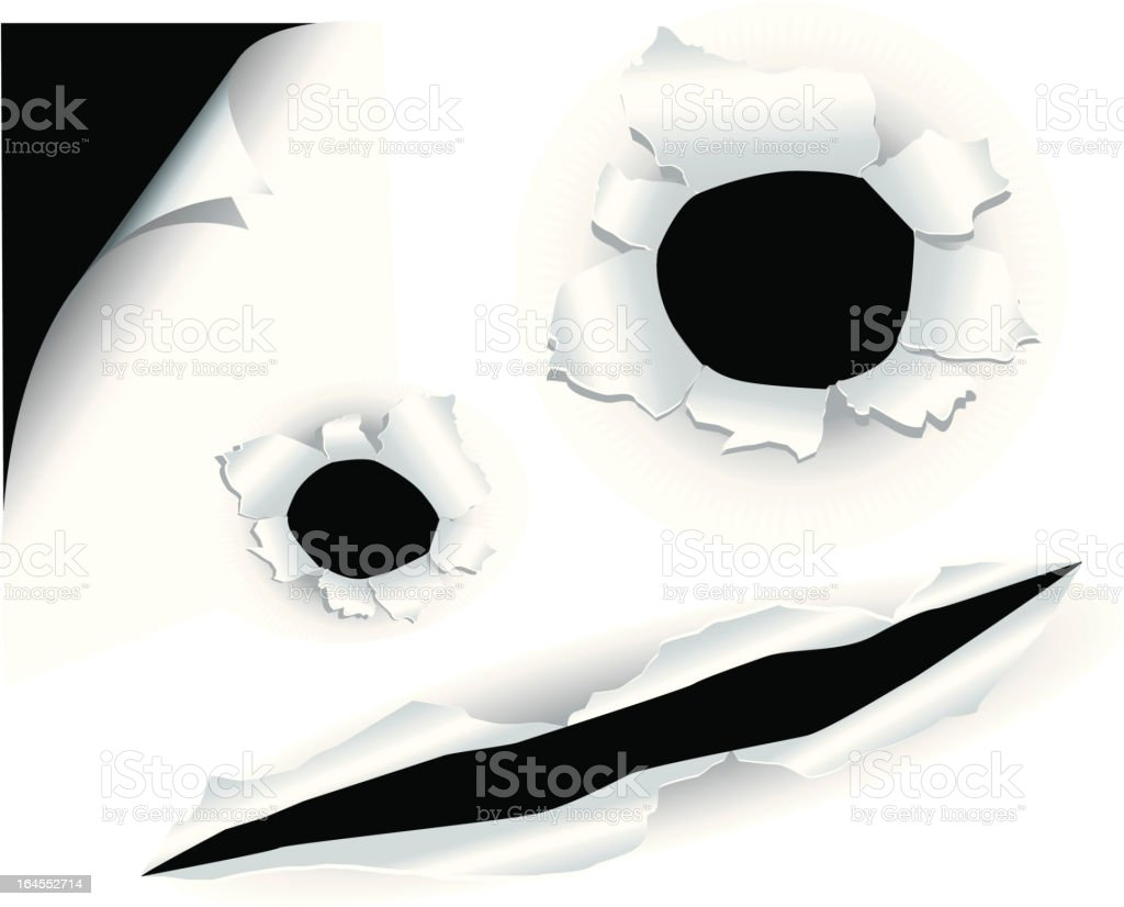 Face of Paper Holes royalty-free stock vector art