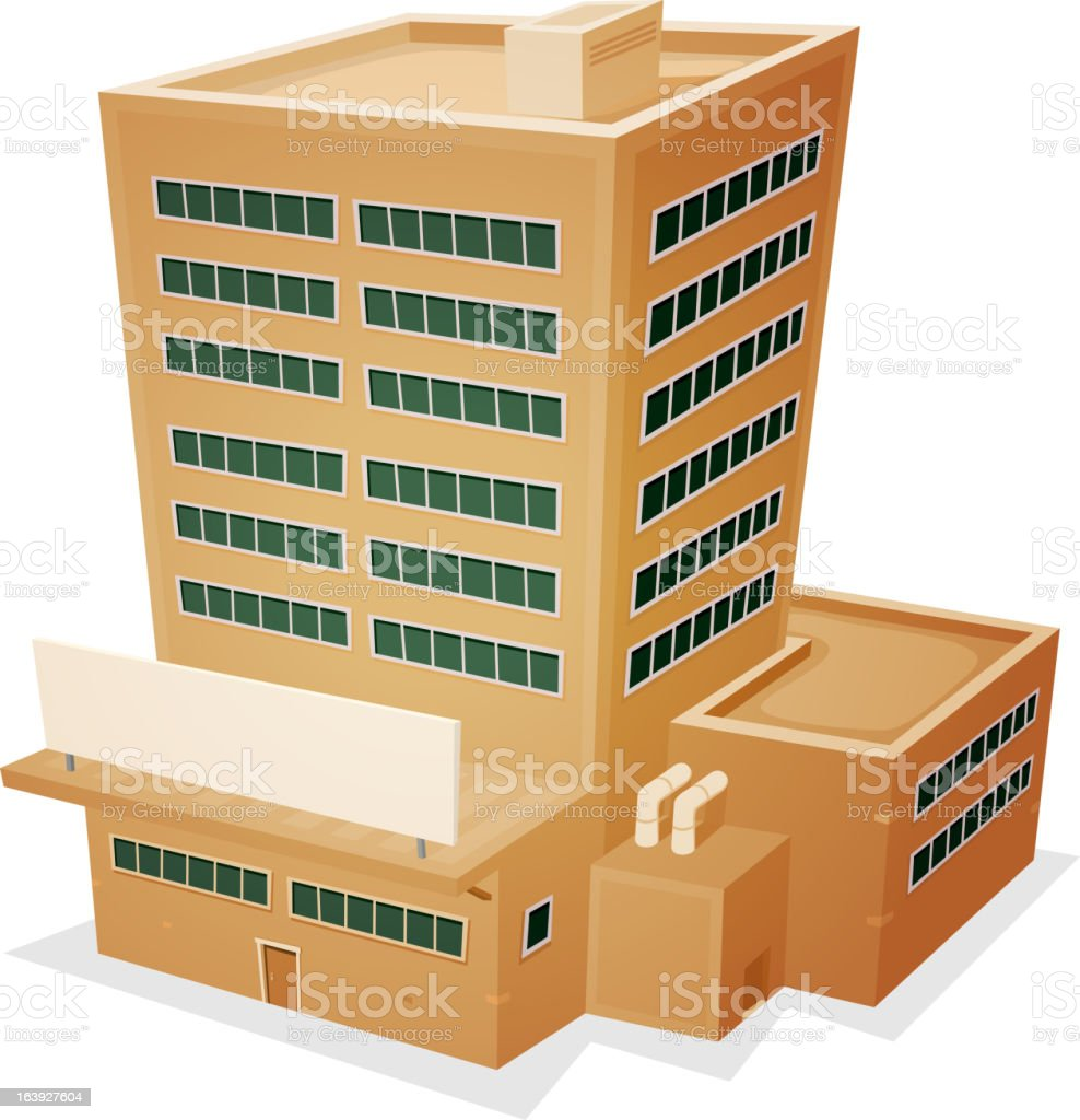 Factory Building royalty-free stock vector art