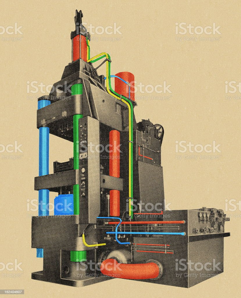 Factory Machinery royalty-free stock vector art