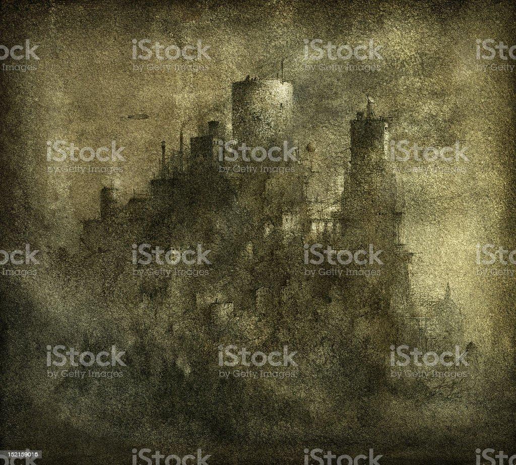 Factory-castle royalty-free stock vector art