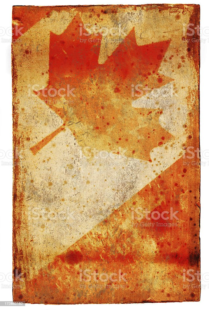 Faded Canadian Flag XXL royalty-free stock vector art