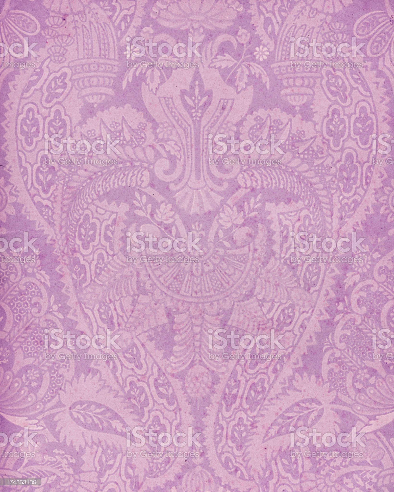 faded paper with floral ornament royalty-free stock vector art