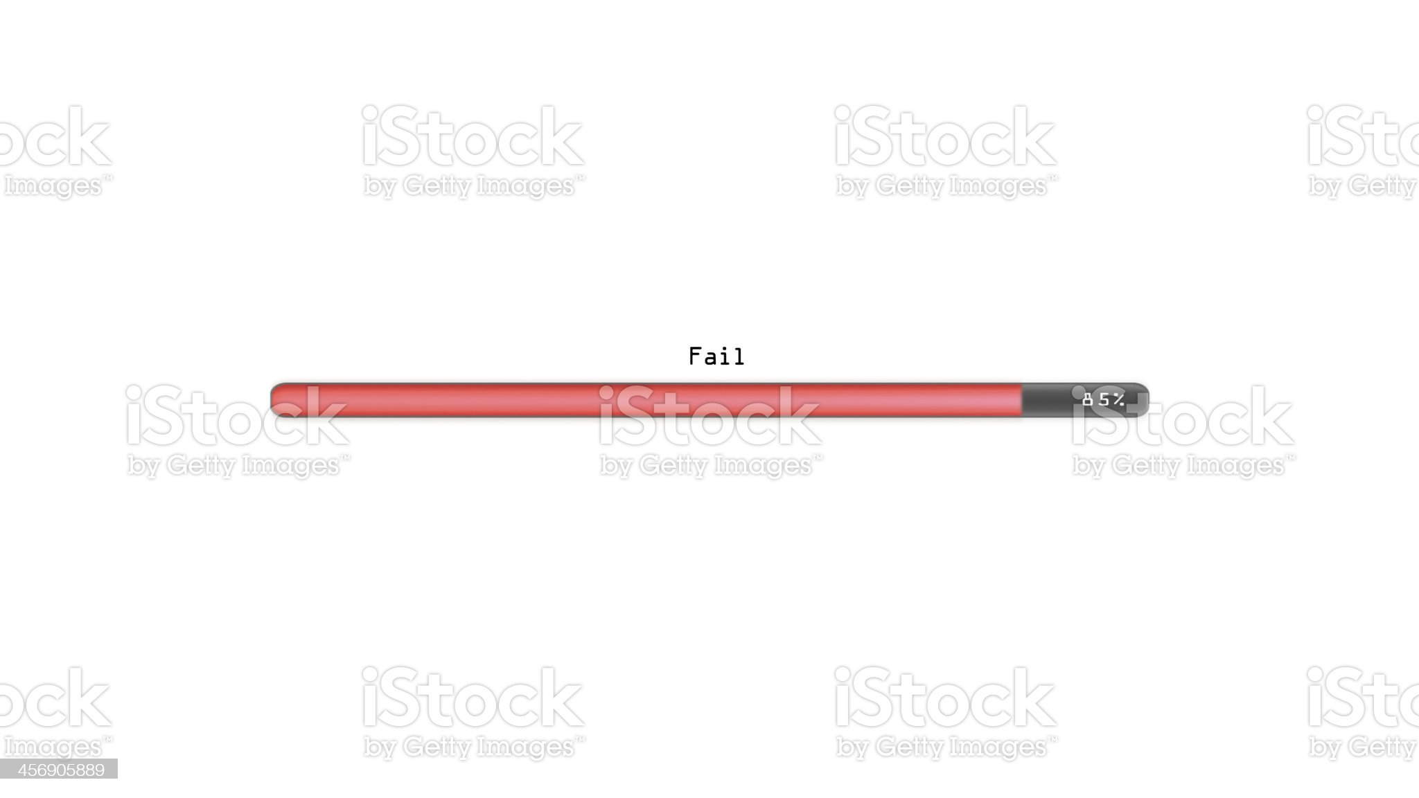 Fail white background royalty-free stock vector art