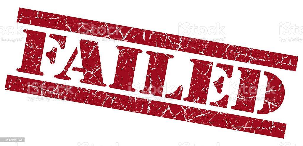 Failed red grunge stamp vector art illustration