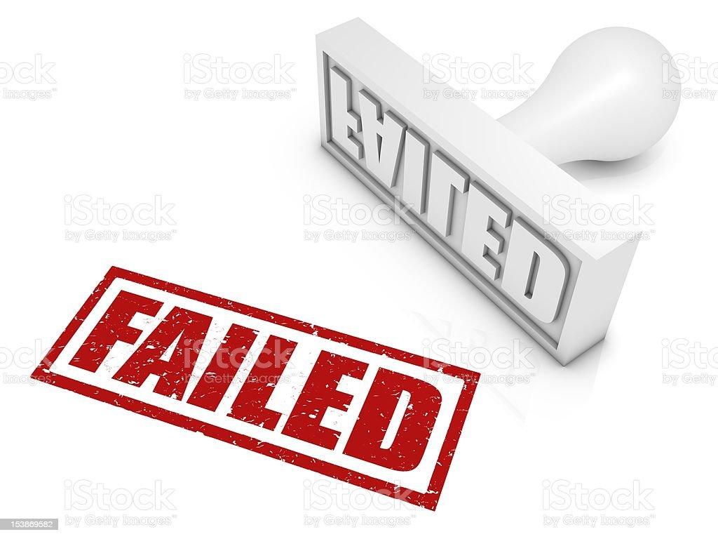 Failed Rubber Stamp vector art illustration