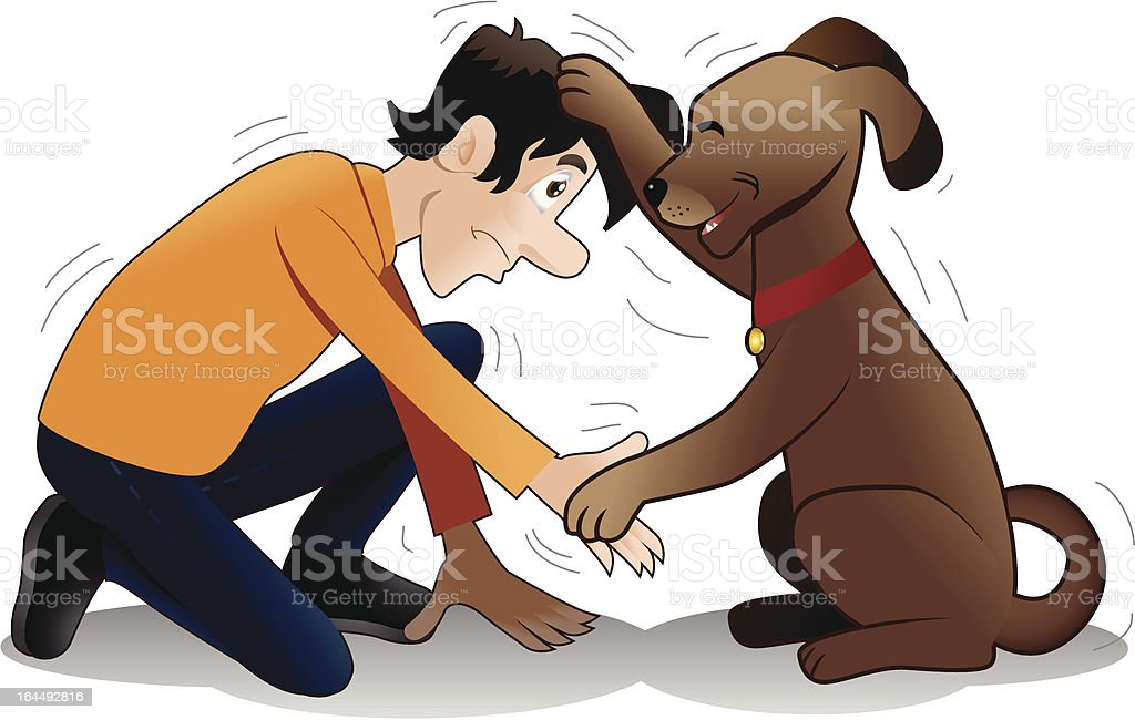 failed shake hand training vector art illustration