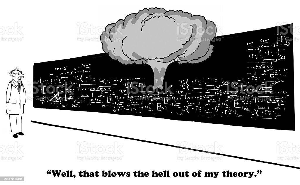 Failed Theory vector art illustration