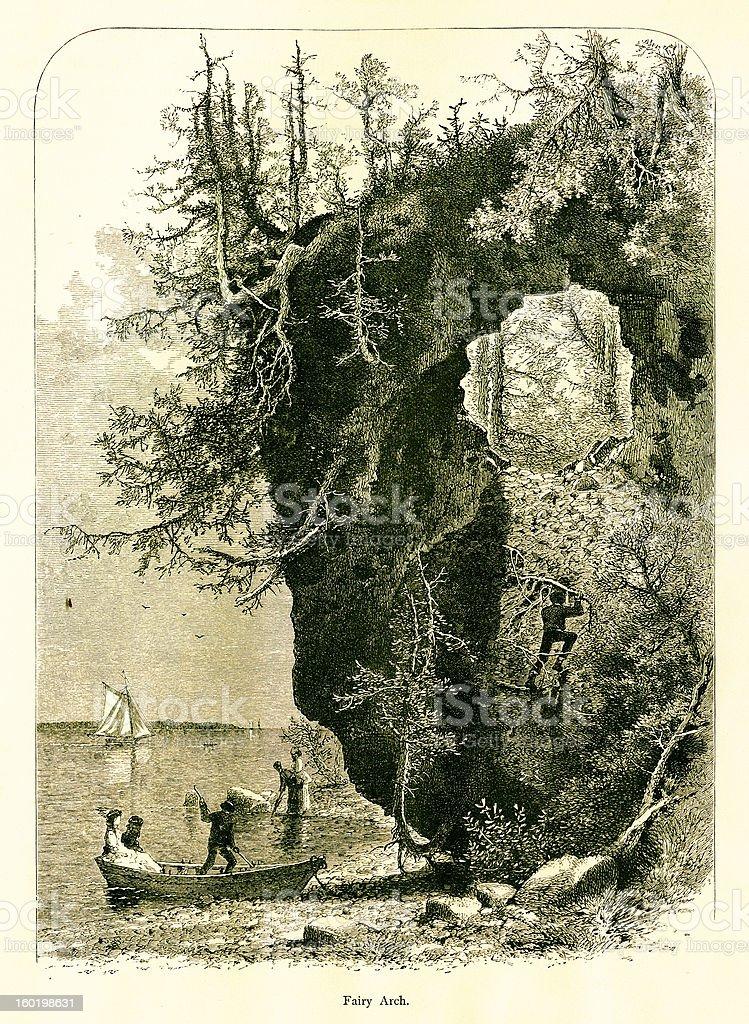 Fairy Arch, Mackinac Island, Michigan royalty-free stock vector art