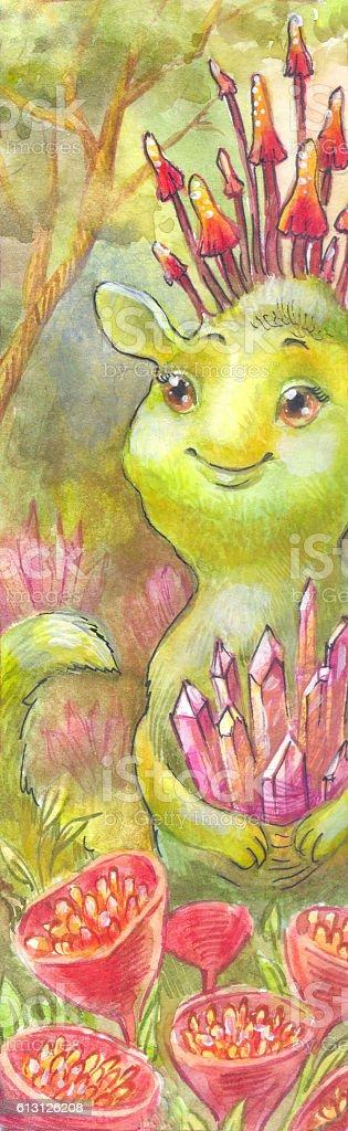 Fairy magic watercolor illustration. vector art illustration