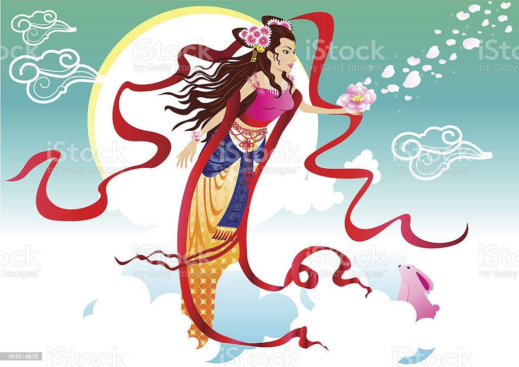 Fairy of moon_chang er royalty-free stock vector art