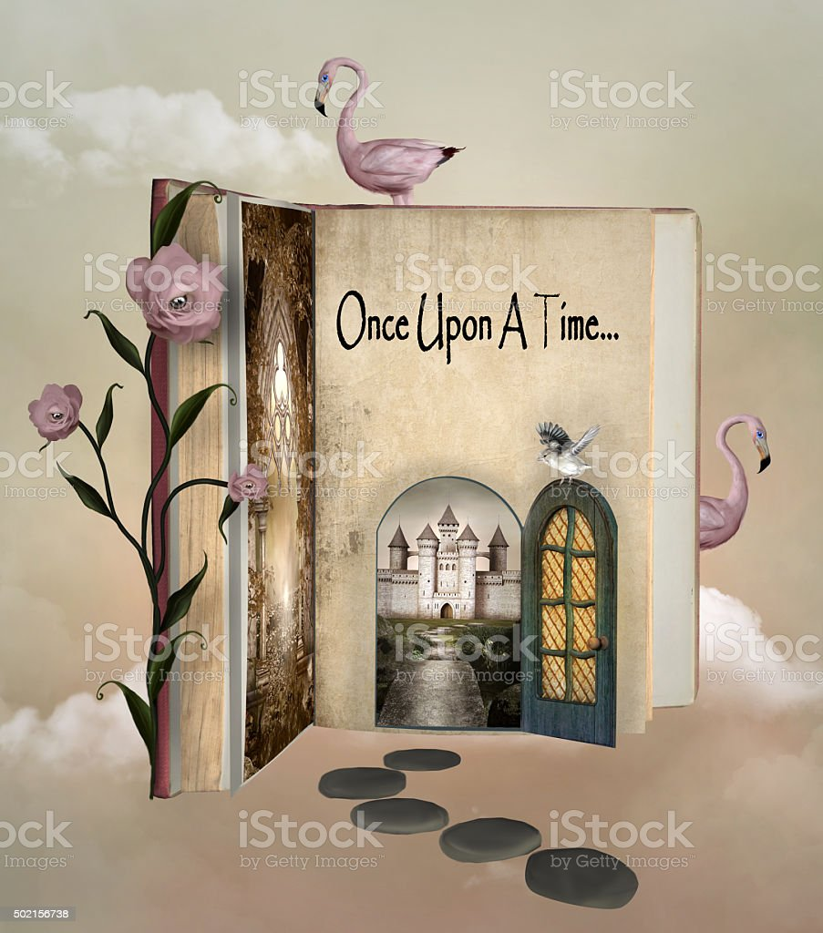 Fairy tale book vector art illustration