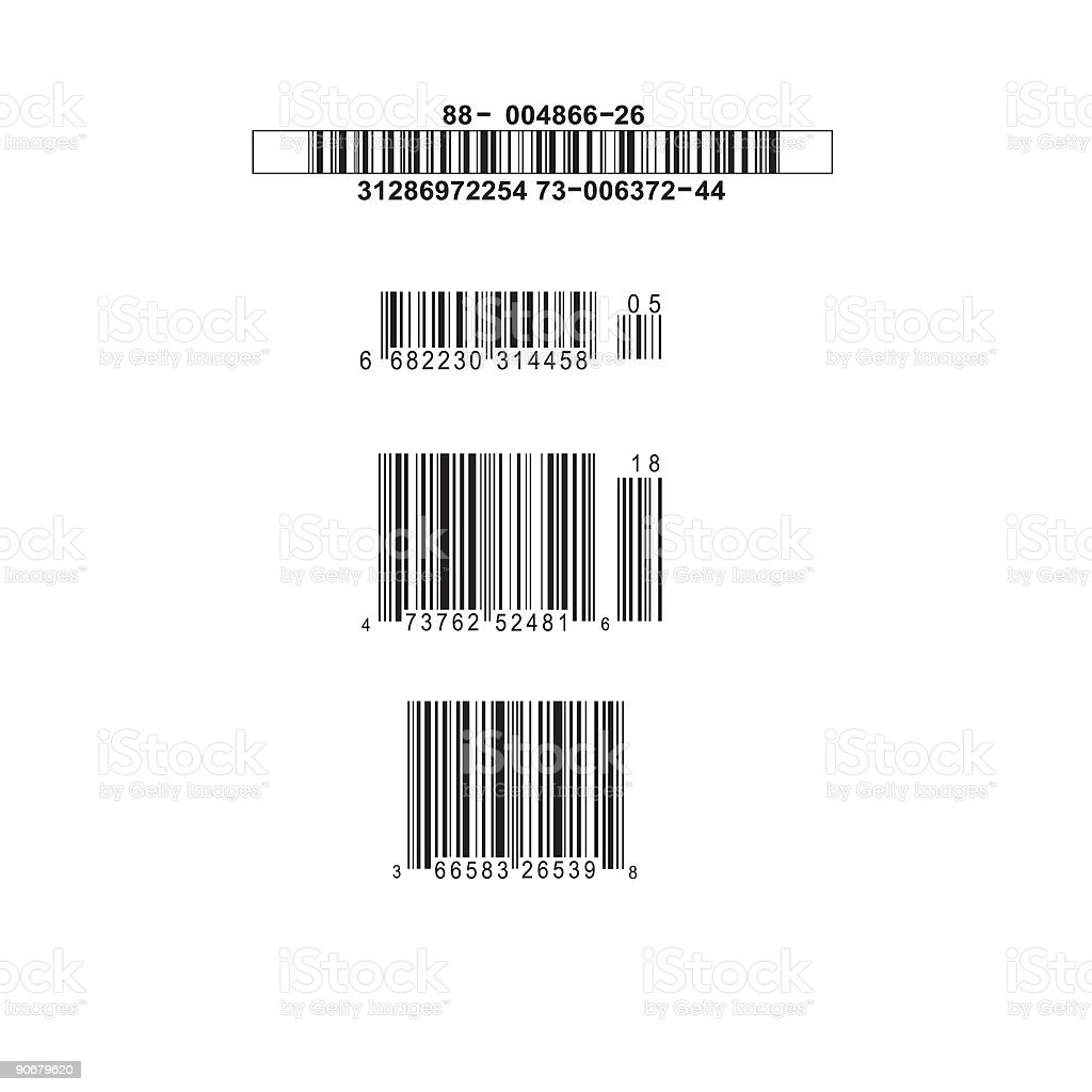 Fake Barcodes vector art illustration