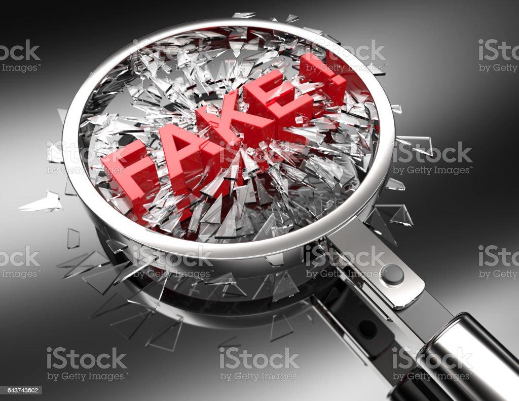 Fake Wrong Incorrect Lies Rejected Word 3d Illustration vector art illustration