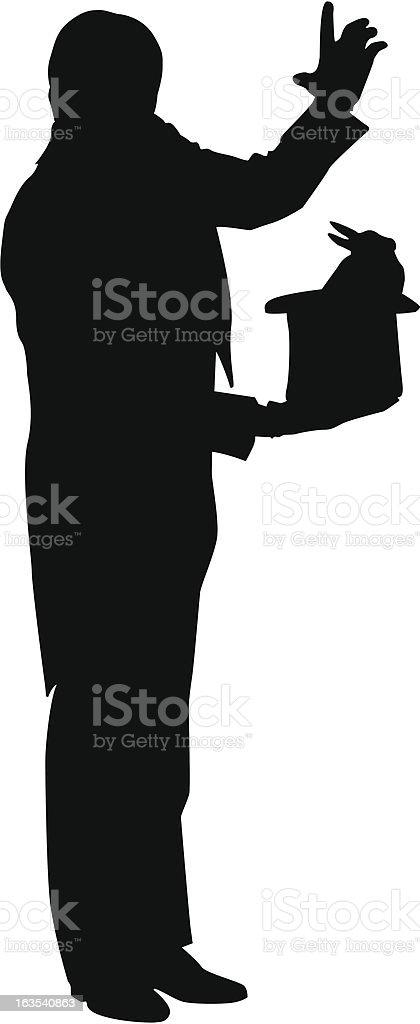 Fakir Silhouette vector art illustration
