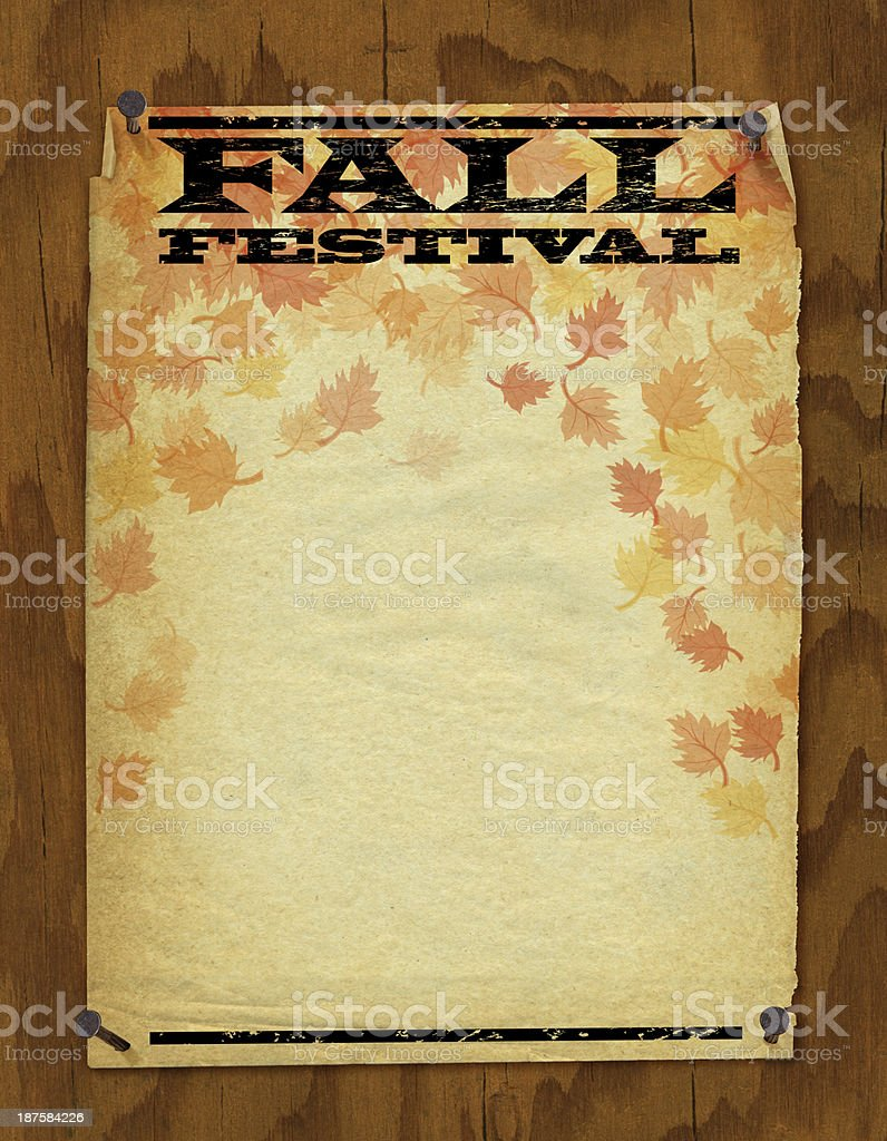 Fall Festival Poster royalty-free stock vector art