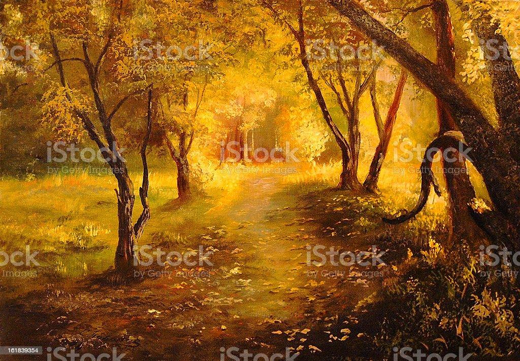 fall vector art illustration