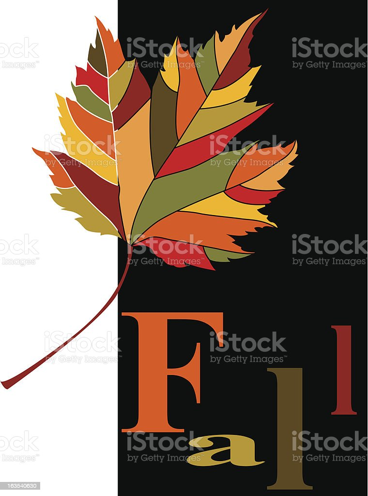Fall in Color royalty-free stock vector art