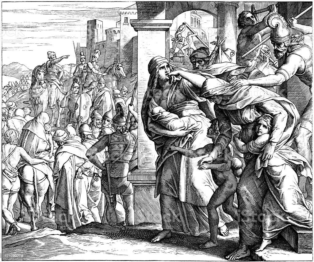 Fall of Jerusalem royalty-free stock vector art