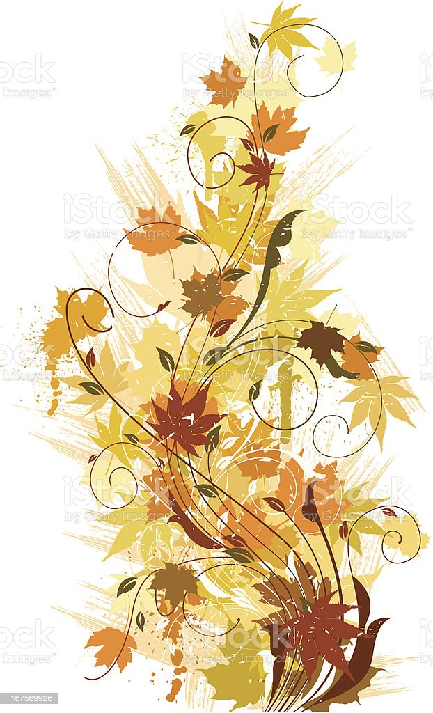 Fall Swirl Background royalty-free stock vector art