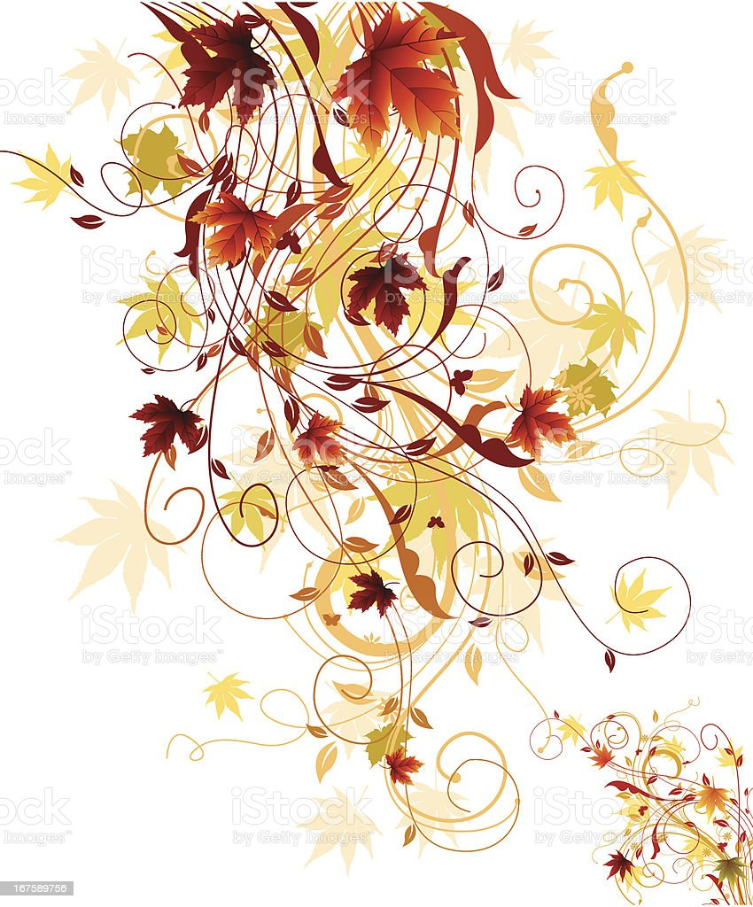 Fall Swirls royalty-free stock vector art