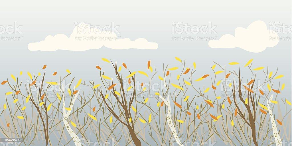 Fall Tree Tops royalty-free stock vector art