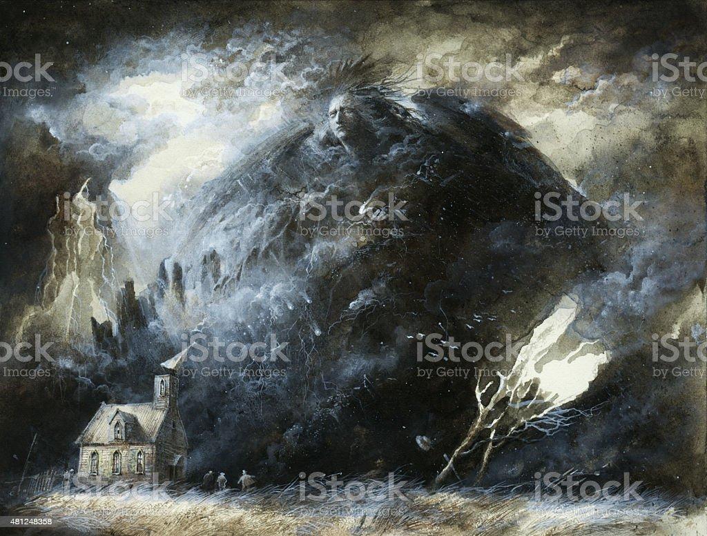 Fallen angel vector art illustration