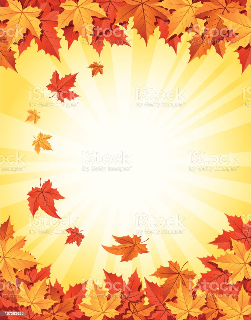 Falling Autumn Leaves royalty-free stock vector art
