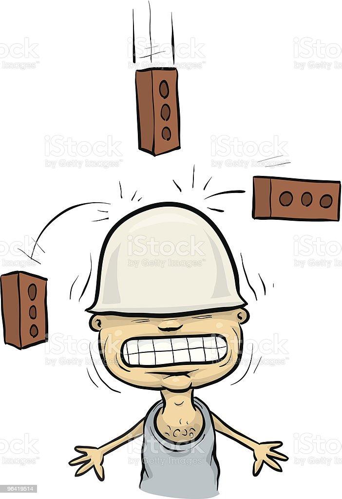 Falling Bricks royalty-free stock vector art