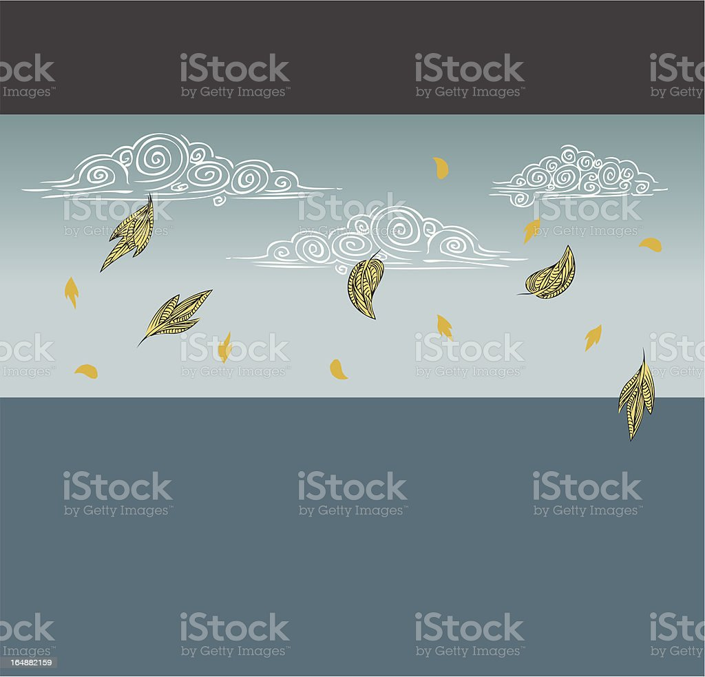 Falling Leaves royalty-free stock vector art