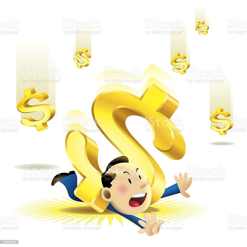 Falling Money royalty-free stock vector art