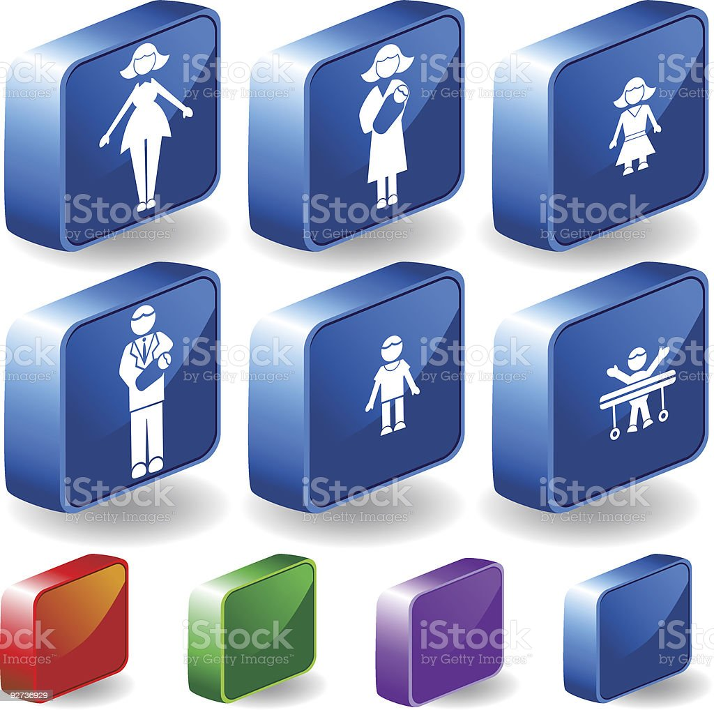 Family 3D royalty-free stock vector art