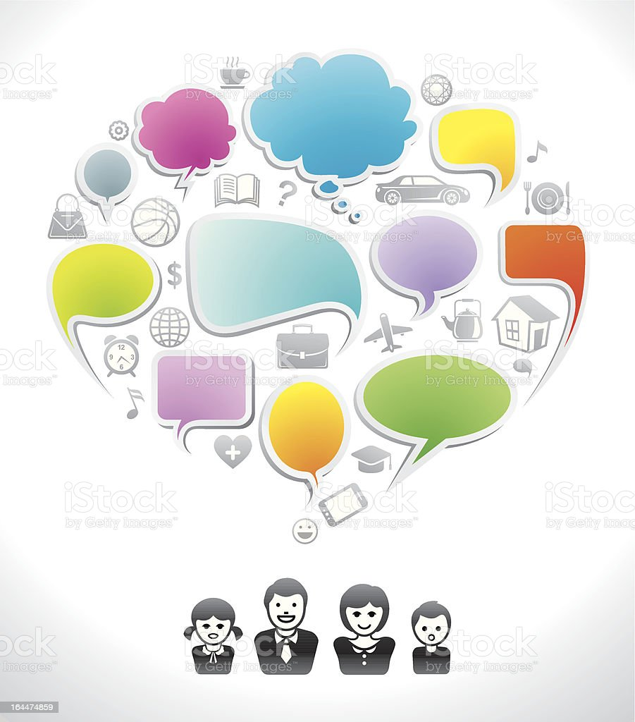 Family Chat royalty-free stock vector art