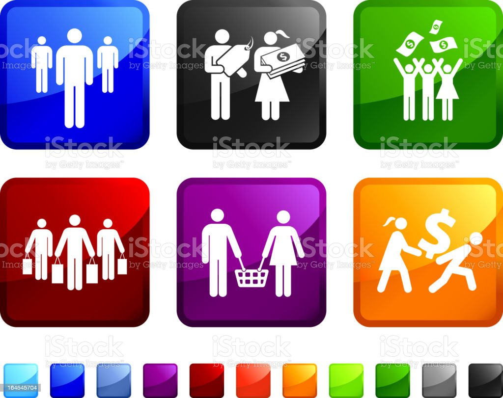 Family Income royalty-free vector arts on vector icon set royalty-free stock vector art